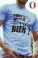 T-shirt bleu Made in France Homme Where is my beer
