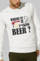 Sweat crème Homme Where is my beer