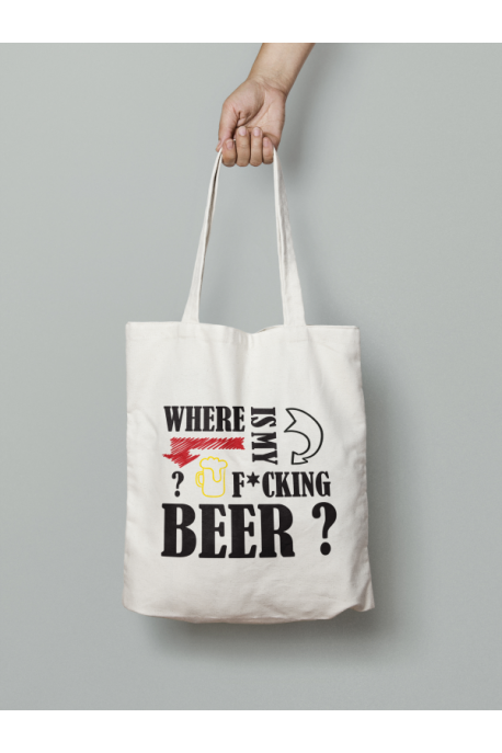 Tote bag Where is my beer