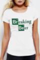 T-shirt blanc Femme Breaking Beer