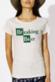 T-shirt crème chiné Femme Breaking Beer