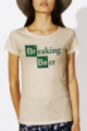 T-shirt beige Femme Breaking Beer
