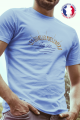 T-shirt bleu Made in France Homme Quais, Potes, Apero, Vie