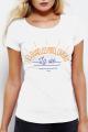 T-shirt blanc Femme Quais, Potes, Apero, Vie