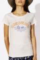 T-shirt crème chiné Femme Quais, Potes, Apero, Vie