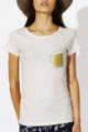 T-shirt crème Femme Chope de Bière