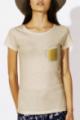 T-shirt beige Femme Chope de Bière