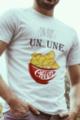 T-shirt Homme blanc Un ou une chips