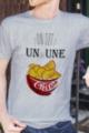 T-shirt Homme gris chiné Un ou une chips