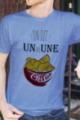 T-shirt Homme bleu chiné Un ou une chips