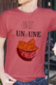 T-shirt Homme rouge chiné Un ou une chips