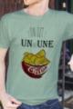 T-shirt Homme vert chiné Un ou une chips