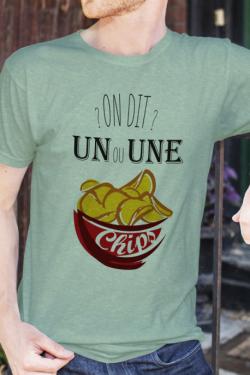 T-shirt Homme Un ou une chips