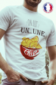 T-shirt Made in France Homme blanc Un ou une chips