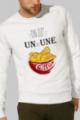 Sweat Homme crème Un ou une chips