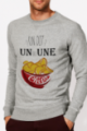 Sweat Homme gris chiné Un ou une chips