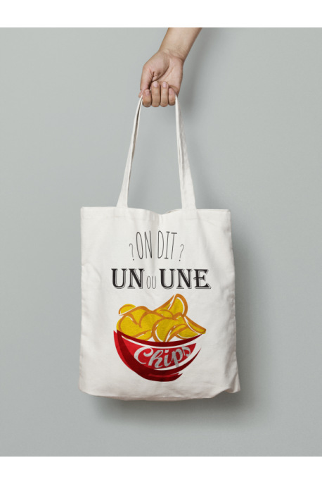Tote Bag Un ou une Chips