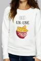 Sweat Femme crème Un ou une chips