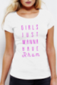 Tee shirt blanc Girls just wanna have Rhum