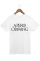 T-shirt Blanc Homme Apero is coming