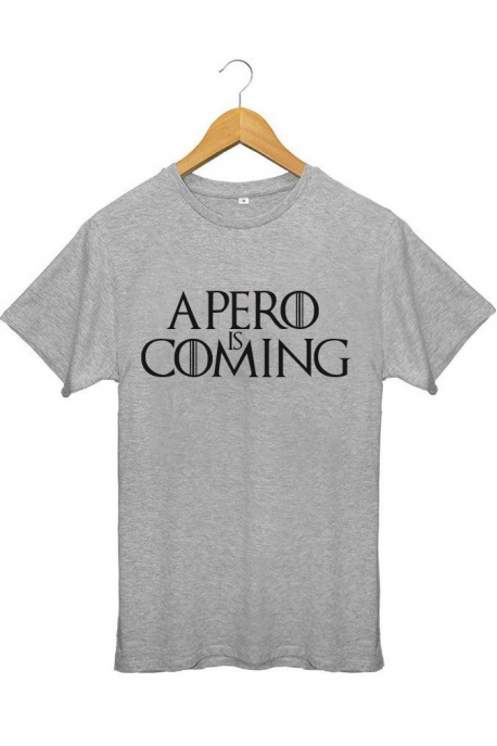 T-shirt Gris Homme Apero is coming