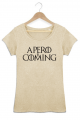 T-shirt Beige chiné Femme Apero is coming