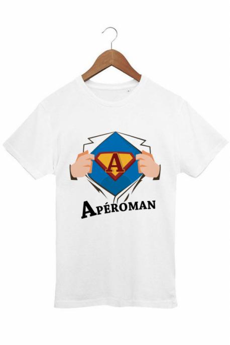 T-shirt Homme Blanc Aperoman