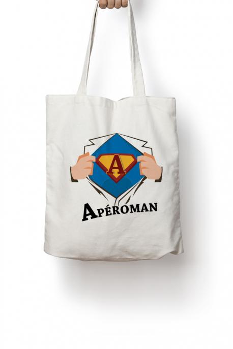 Tote bag Aperoman