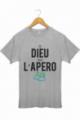 T-shirt Homme Gris Dieu créa l'apéro