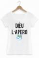 T-shirt Femme Blanc Dieu créa l'apéro