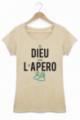 T-shirt Femme Beige Dieu créa l'apéro