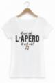 T-shirt Femme Blanc Il est où l'apéro