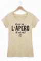 T-shirt Femme Beige Il est où l'apéro