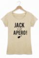 T-shirt Femme Beige Jack a dit