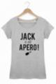 T-shirt Femme Gris Jack a dit