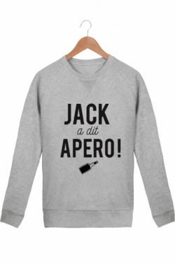Sweat Homme Gris chiné Jack a dit