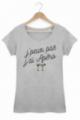 T-shirt J'peux pas j'ai apéo - Femme - Gris