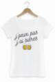 T-shirt Femme J'peux pas j'ai bières - Blanc