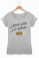 T-shirt Femme J'peux pas j'ai bières - Gris chiné
