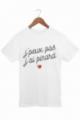 T-shirt Homme J'peux pas j'ai pinard - Blanc