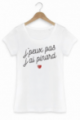 T-shirt Femme J'peux pas j'ai pinard - Blanc