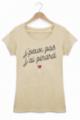 Tee shirt Femme J'peux pas j'ai pinard - Beige