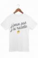 T-shirt Homme J'peux pas j'ai raclette - Blanc