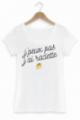 T-shirt Femme J'peux pas j'ai raclette - Blanc