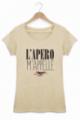 T-shirt Femme L'apéro m'appelle - Beige