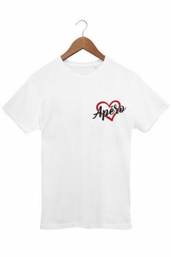 T-shirt Homme Love Apéro - Blanc
