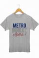 Tee shirt Homme Métro Boulot Apéro - Gris