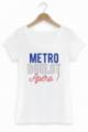 T-shirt Femme Métro Boulot Apéro - Blanc