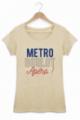 T-shirt Femme Métro Boulot Apéro - Beige