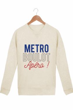 Sweat Femme Métro Boulot Apéro - Crème